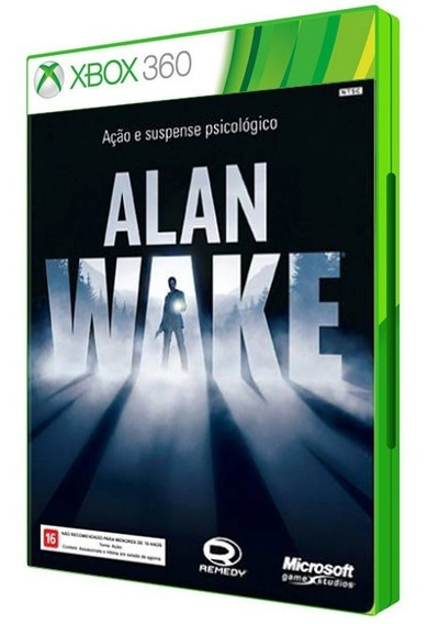 Alan Wake Game Xbox 360 Dvd Mídia Física Original Lacrado Cd