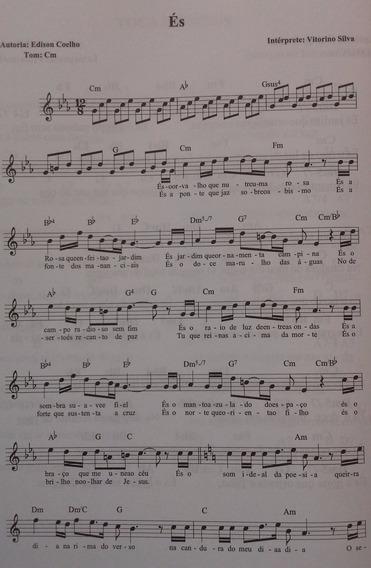 Livro Com Cifras E Partituras Músicas Gospel -evangélicas