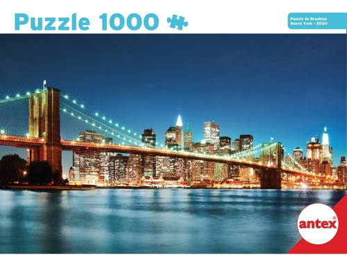 Puzzle 1000 Piezas Puente De Brooklyn Nueva York Antex 3061