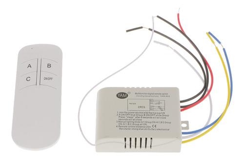 Interruptor Controle Remoto Digital  1/2/3 Vias