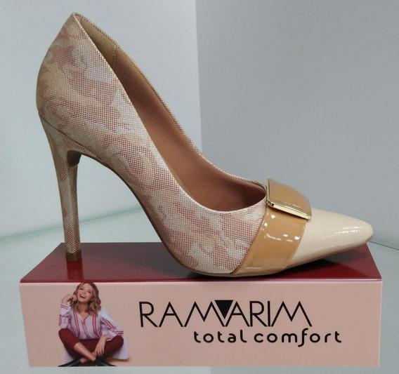 Scarpin Ramarim Vanila 18-94204 Scarpin Marfim