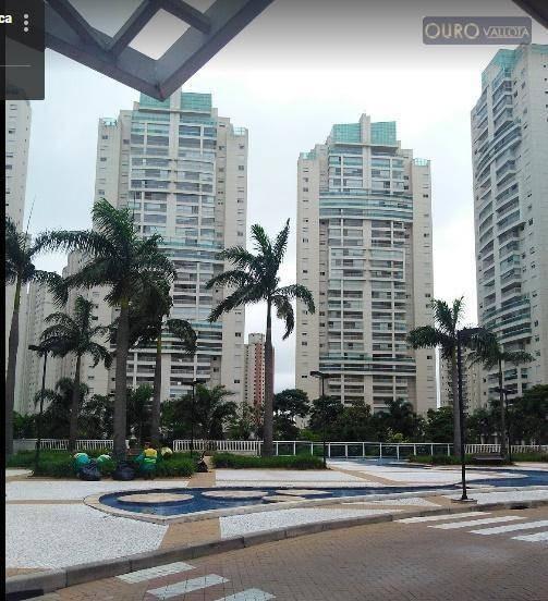 Vendo Linda Cobertura Mobiliada - 314m2 - 4 Suítes - 4 Vagas - Lazer Completo- Central Park - Co0025
