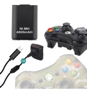 Bateria Joystick Xbox 360 + Cable Usb
