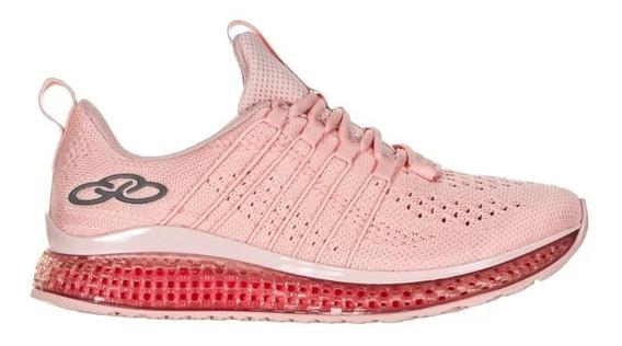 Tenis Feminino Olympikus Caminhada Horizon Rosa Original