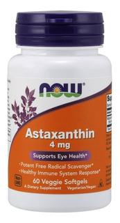 Astaxantina 4mg 60 Soft Gels Now Foods