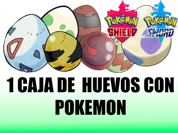 Paquete De 1 Caja Huevos (30 Huevos) Con Pokemon 6 Iv´s