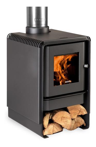 Calefactor Leña Bosca Eco 360, Doble Combustión, Pot. 8.7 Kw