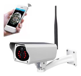 Câmera Solar Ip Wireless Wi-fi Full Hd 1080p Fazendas Casas