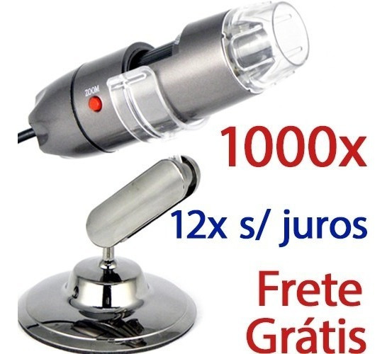Microscópio Digital Usb 1000x Hd Frete Grátis E 12x S/ Juros