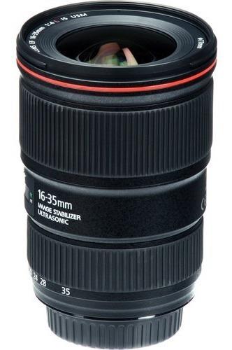 Imagem 1 de 5 de Lente Canon Ef 16-35mm F/4l Is Usm Garantia Canon Brasil