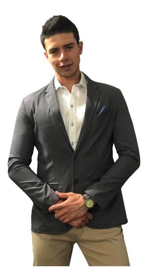 Blazer Saco Para Hombre Gris Oxford Peaceful Clothing