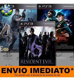 Jogo Ps3 Resident Evil 4 5 6 Psn Play 3 Mídia Digital