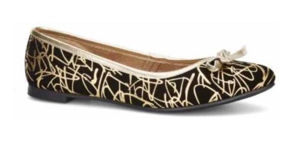 Zapato Dama Estilo Ballerina Estampado