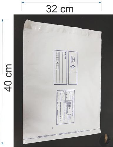 100 Envelope Plástico Reforçado Segurança Lacre Sedex 32x40
