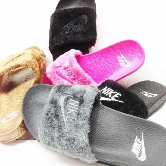 Cholas Chancletas Peludas Nike Air Dama Jordan Crocs