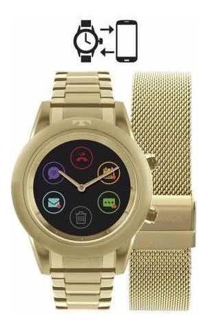 Relógio Technos Connect Srab/4p Dourado Nova Na Caixa!