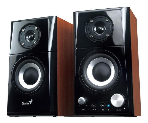 Parlante Genius SP-HF500A Negro/Madera 220V