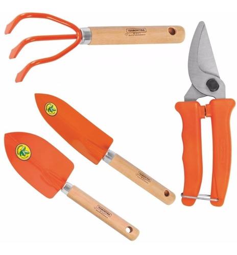Kit Para Jardinagem Com 4 Peças - Tramontina