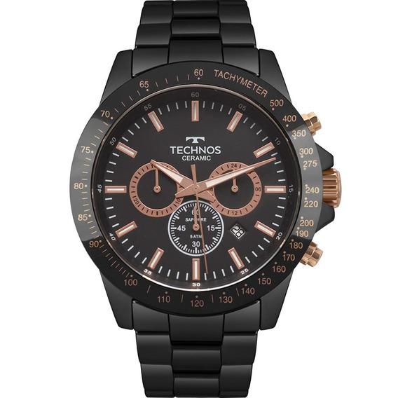 Relógio Technos Masculino Ceramic Preto Js25bu/4p