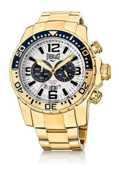 Relógio Cronografo Everlast E651 Dourado