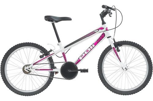 Bicicleta Feminina Aro 20 Monomarcha Branco 7138 Polimet