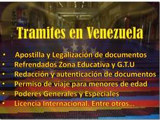 Tramites En Venezuela: Apostillas, Legalizaciones, Pasaporte