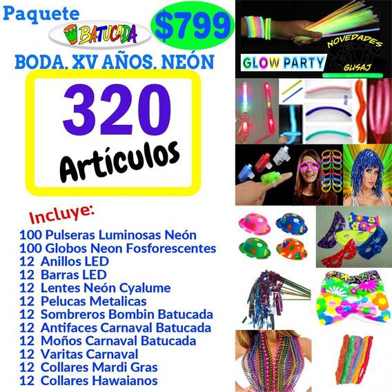 Paquete Batucada $799 Fiesta Neon Led Boda Xv Años Graduació