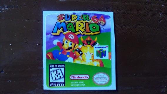 Label Super Mario 64 Nintendo 64 N64