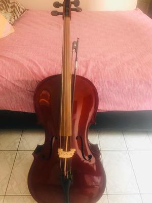 Violoncelo Nhureson Madeira Exposta Brilho 4/4
