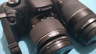 Camara Canon T6 + Lente 18-55mm + Lente Ef75-300mm