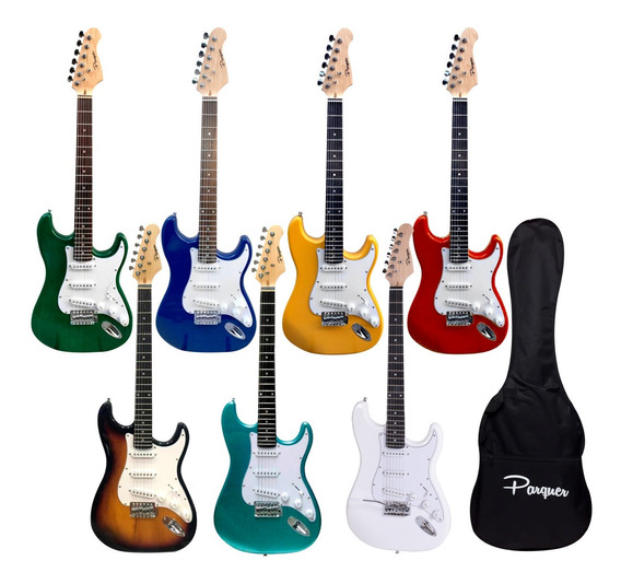 Guitarra Electrica Stratocaster Parquer Con Funda Y Palanca