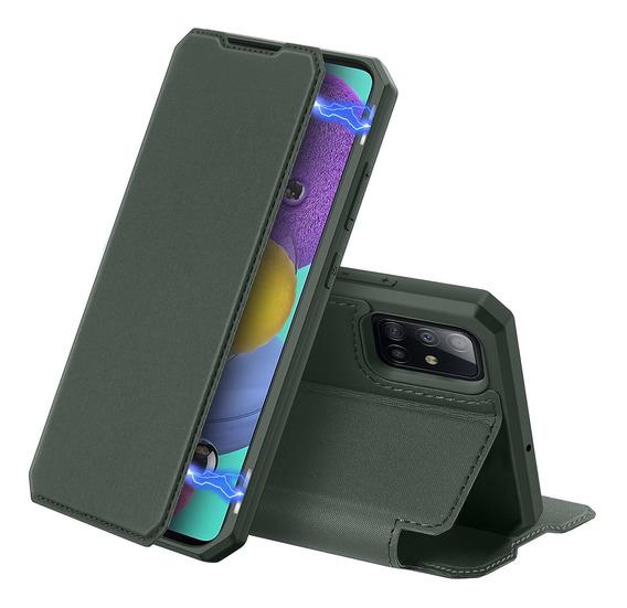 Para Samsung A51 Tampa Do Telefone Móvel Verde Escuro
