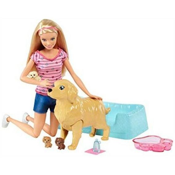 Boneca Barbie Loira Filhotinhos Recém-nascidos Mattel