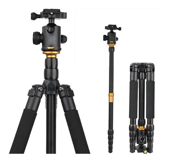 Tripé Profissional Monopé 2x1 10kg Universal Head 360º Câmera Nikon Canon Celular 1,50 Engate Rápido Qzsd Q666 Bolsa I2