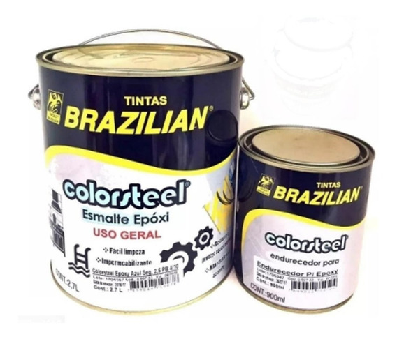 Tinta Epóxi Cinza P/ Azulejo Piso C/ Endurecedor Brazilian