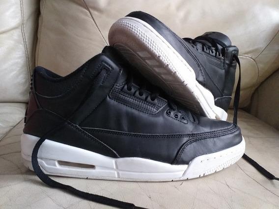Tenis Jordan Retro 3 Black White 28mx/10us