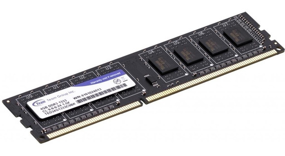Memoria Ram Pc 4gb Ddr3 1333mhz 1333 Teamgroup Pc Escritorio