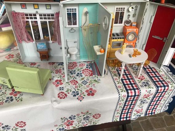 Casa Da Barbie Antiga Com Acessórios