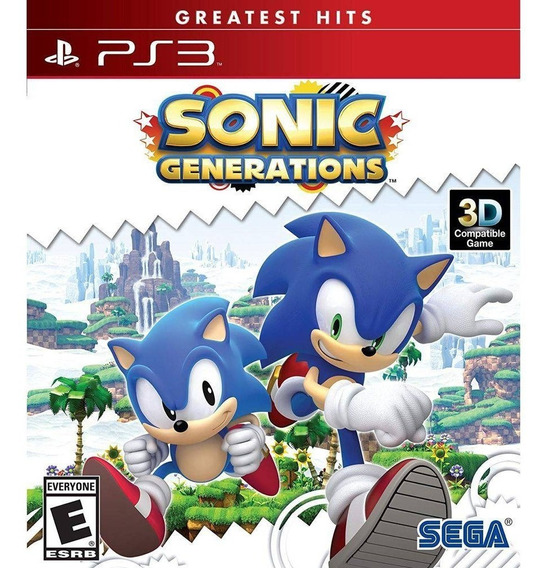 Sonic Generations Ps3 Mídia Física Original Lacrado