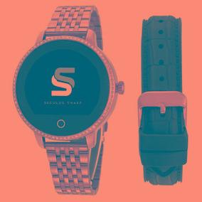 Relógio Seculus Smartwatch Pulseira Dourado/pedras 79002lpsv