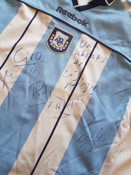 Camiseta Argentina Los Piojos Autografiada Por Todos