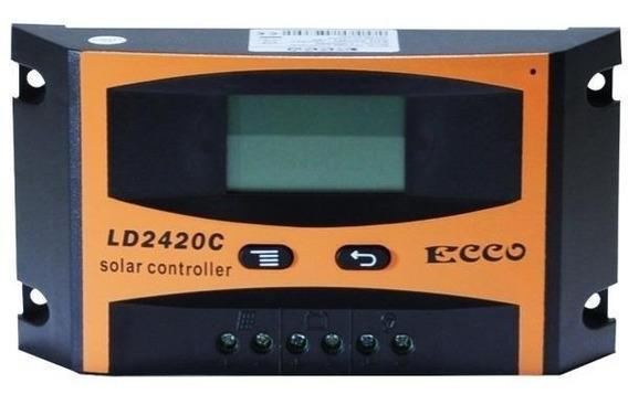 Controlador De Carga 40a 12v/24v Regulador Sistema Solar
