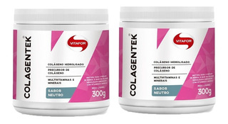 Colagentek Colágeno Hidrolisado - 2x 300 Gr - Vitafor Neutro