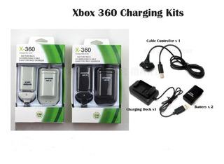 Kit Cargador Cuna 2 Pilas 4800mah Cable Usb 2 En 1 Xbox 360