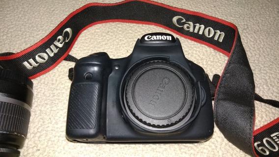 Canon 60d E Lente 18-55 Com Numero De Cliks