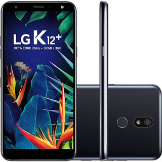 Celular Lg K12 Plus Preto 32gb 3gb Android 8.1 32gb 5.7