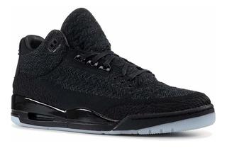 Nike Air Jordan 3 Retro Flyknit Hombres Hi Parte Superior Ba