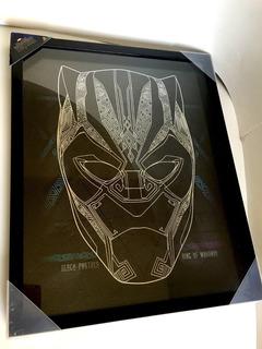 Cuadro Black Panther Marvel Avengers Artissimo Pantera Negra