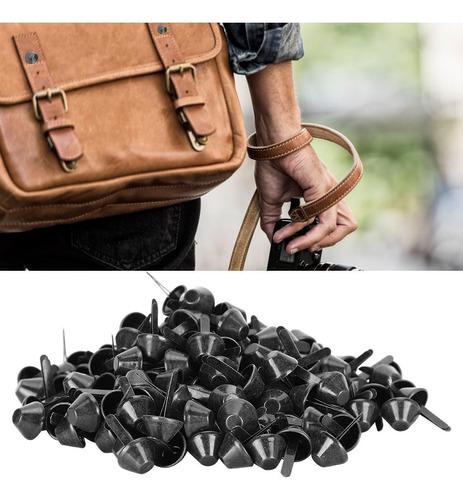 remaches de tachuelas para pies de bolsa de metal para manualidades en cuero DIY 200 piezas de tachuelas de pies planos bolso de cuero para equipaje pies bolso cabeza de clavo de 12 mm