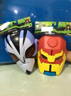 Ben 10 Conjunto Com Duas Máscaras De 23 Cm